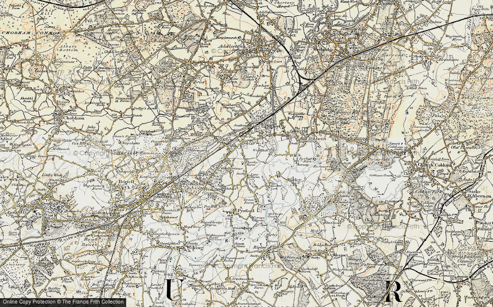 Old Map of West Byfleet, 1897-1909 in 1897-1909