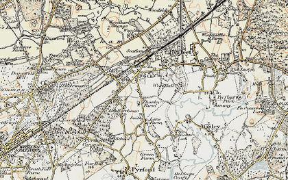 Old map of West Byfleet in 1897-1909