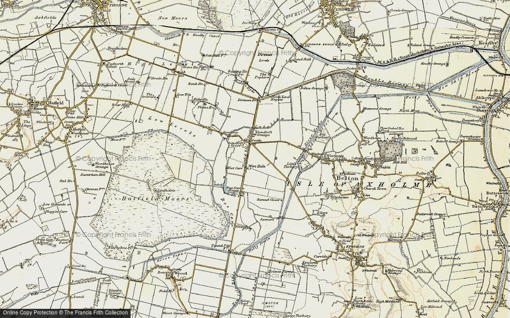 Old Map of Historic Map covering Lindholme Grange in 1903