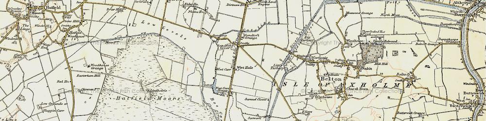 Old map of Lindholme Grange in 1903