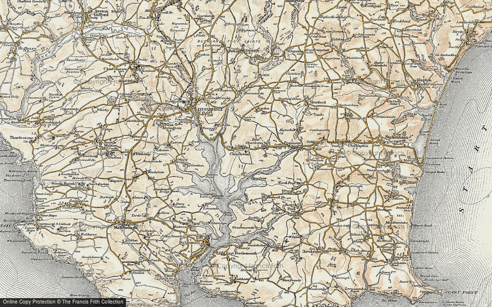 Old Map of West Charleton, 1899 in 1899