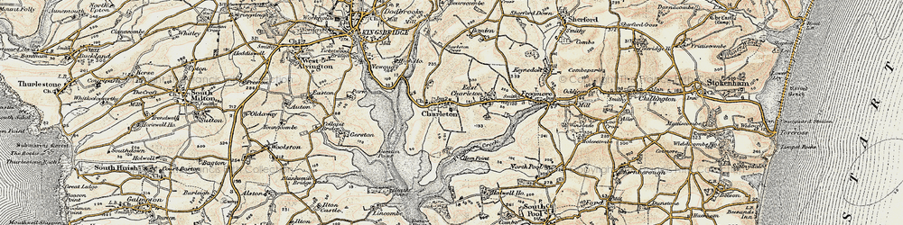 Old map of West Charleton in 1899