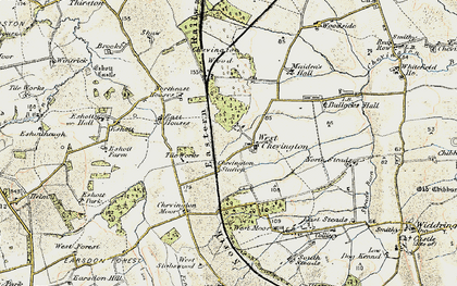 Old map of West Stobswood in 1901-1903