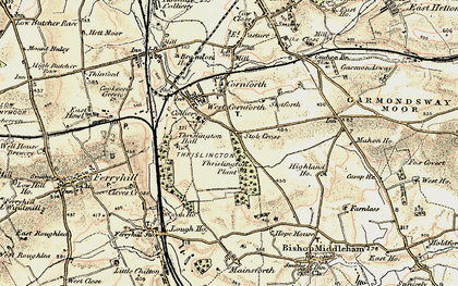 Old map of West Cornforth in 1903-1904