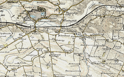 Old map of West Curthwaite in 1901-1904