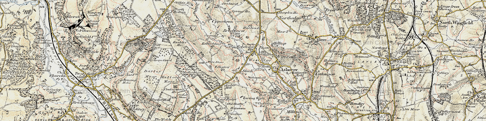 Old map of Amber Ho in 1902-1903
