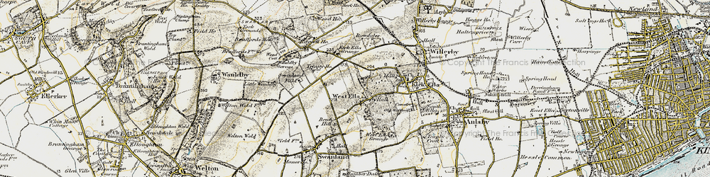 Old map of Westwinds in 1903-1908