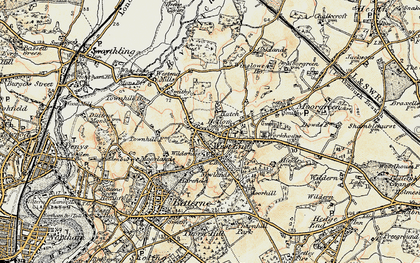 Old map of West End in 1897-1909