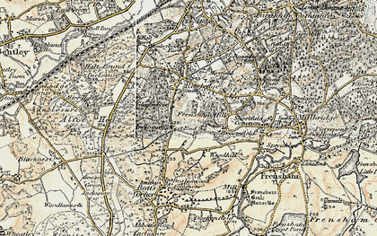 Old map of Woodhill in 1897-1909