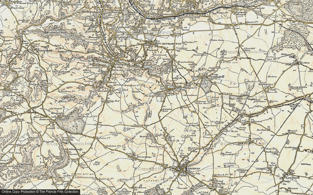 Old Map of Historic Map covering Avening Park in 1898-1900