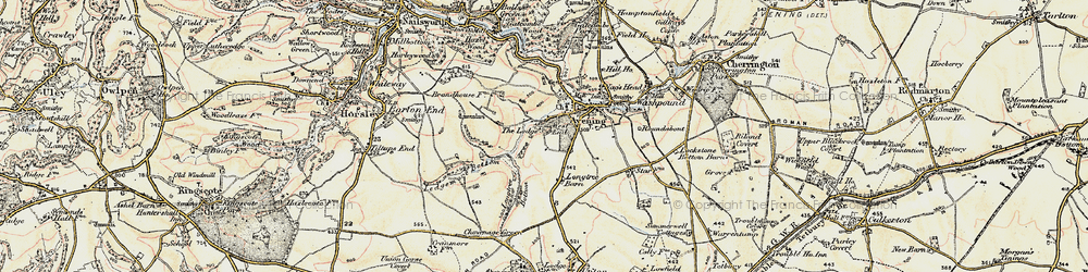 Old map of Westfield Barn in 1898-1900