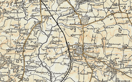 Old map of Wyckham Wood in 1898