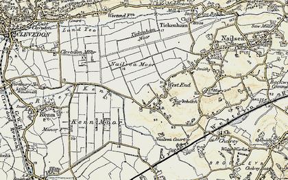 Old map of Tickenham Moor in 1899