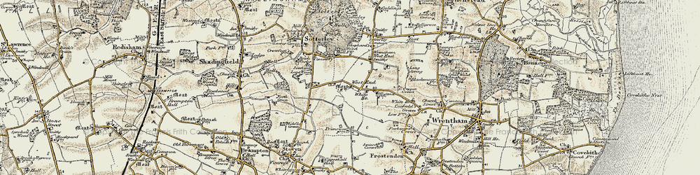Old map of Wrentham West End in 1901-1902