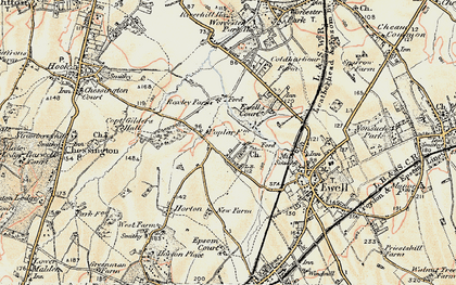 Old map of West Ewell in 1897-1909