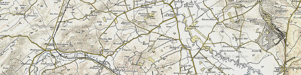 Old map of Whitton Hill in 1901-1903