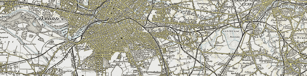 Old map of West Gorton in 1903