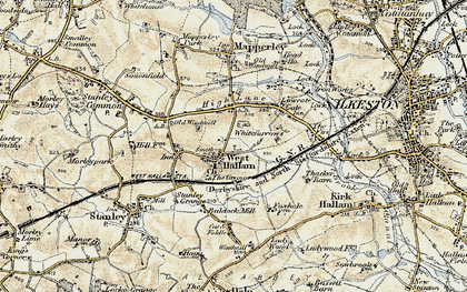 Old map of Whitefurrows in 1902-1903