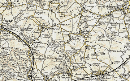 Old map of West Handley in 1902-1903