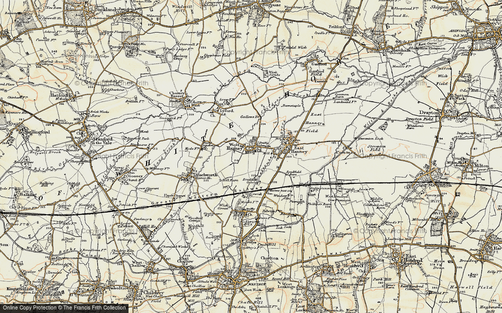 Old Map of West Hanney, 1897-1899 in 1897-1899