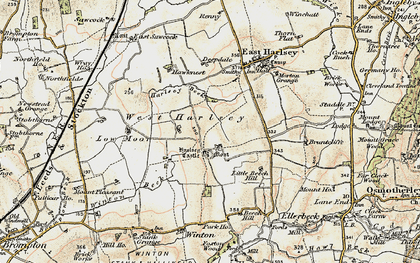 Old map of Winton Beck in 1903-1904