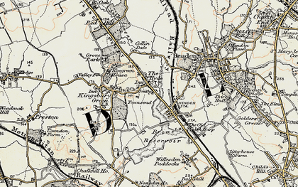 Old map of West Hendon in 1897-1898