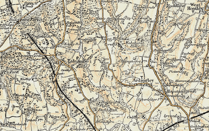 Old map of Balcombe Place in 1898