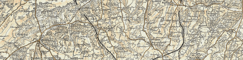 Old map of Ardingly Resr in 1898