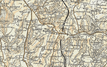 Old map of West Hoathly in 1898