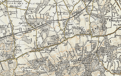Old map of Woodcote Lodge in 1898-1909