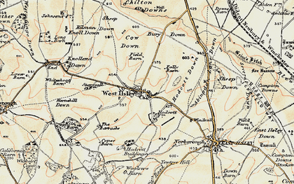 Old map of West Ilsley in 1897-1900