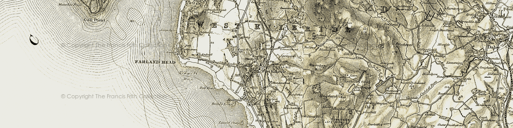 Old map of Woodside in 1905-1906
