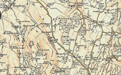 Old map of West Kingsdown in 1897-1898