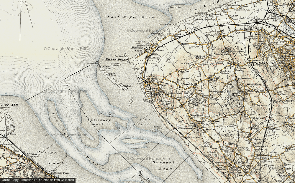 Old Map of Historic Map covering Lime Wharf in 1902-1903