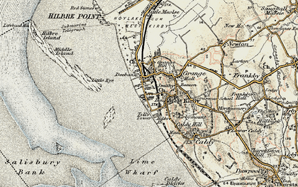 Old map of Lime Wharf in 1902-1903