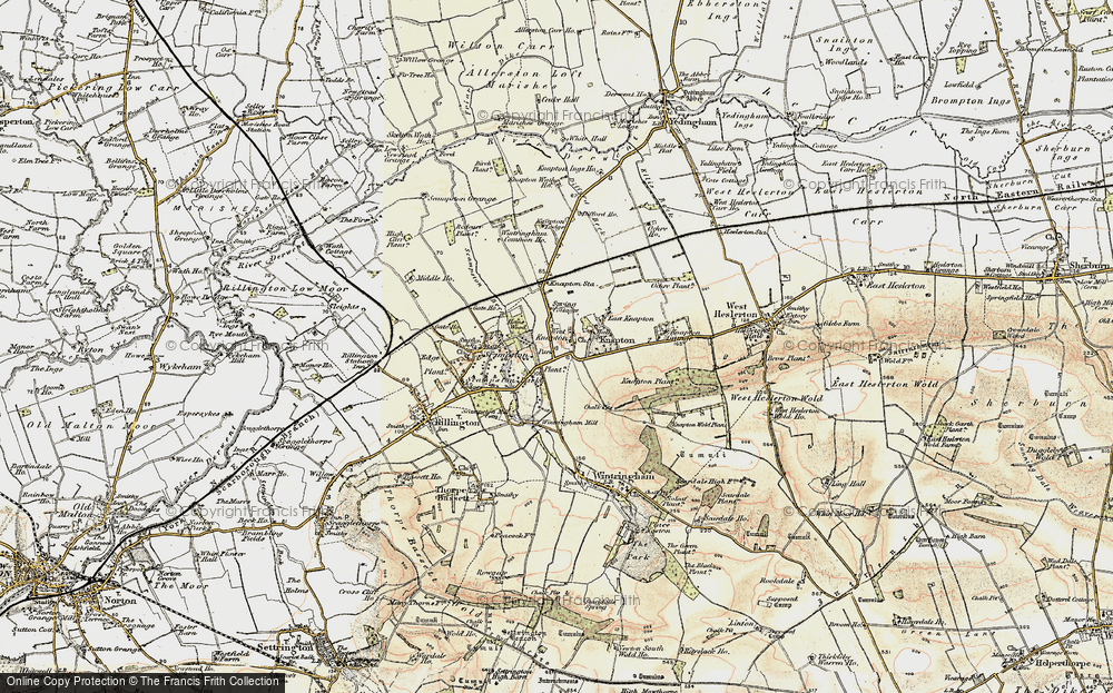 Old Map of Historic Map covering Woodlands in 1903-1904