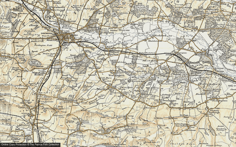 Old Map of Historic Map covering Lewell Lodge in 1899-1909