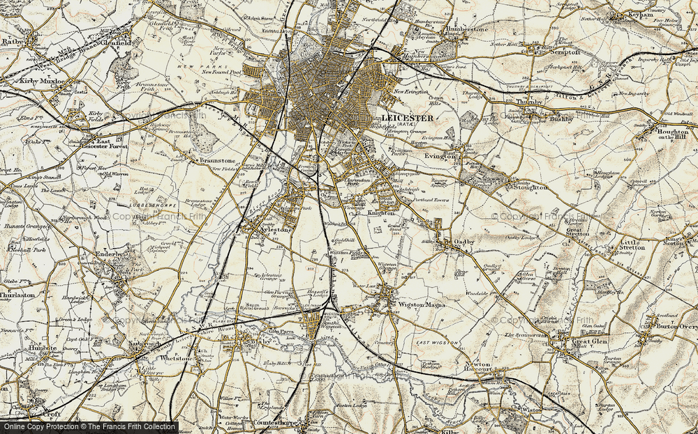 Old Map of West Knighton, 1901-1903 in 1901-1903