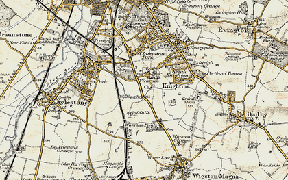 Old map of West Knighton in 1901-1903