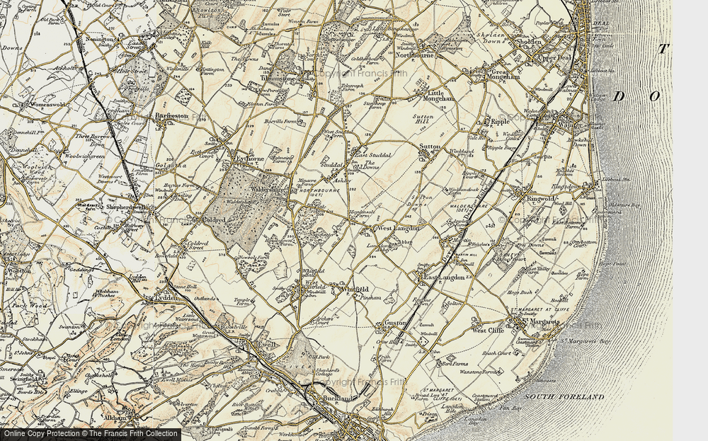 Old Map of West Langdon, 1898-1899 in 1898-1899