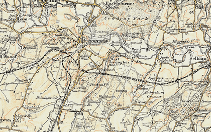 Old map of West Lavington in 1897-1900
