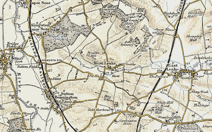 Old map of Ash Spinney in 1902-1903