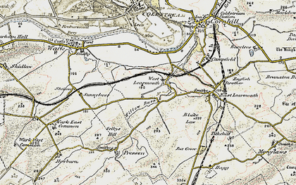 Old map of Willow Burn in 1901-1904