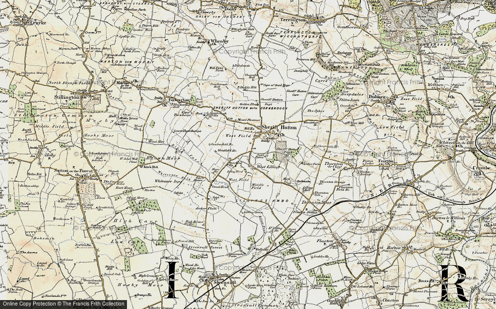 Old Map of Historic Map covering Lilling Wood in 1903-1904