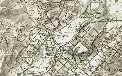 Old map of West Linton in 1903-1904