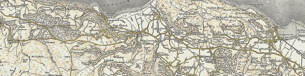 Old map of West Luccombe in 1900