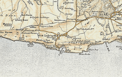 Old map of West Lulworth in 1899-1909