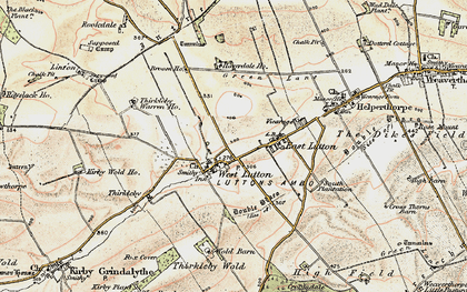 Old map of Whin Moor in 1903-1904
