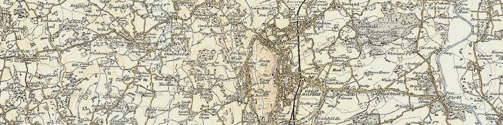 Old map of West Malvern in 1899-1901
