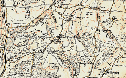Old map of Watergate Hanger in 1897-1899